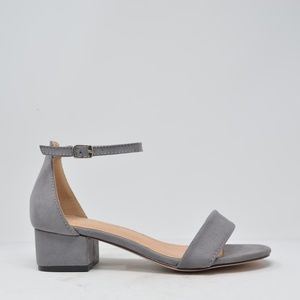 NEW Women's Gray Suede Low Platform Sandal